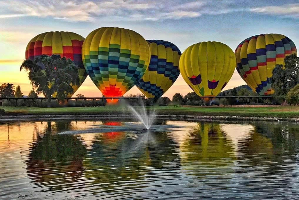 «Цвет зари» - полет на воздушном шаре над долиной Темекула, Южная Калифорния (превью)