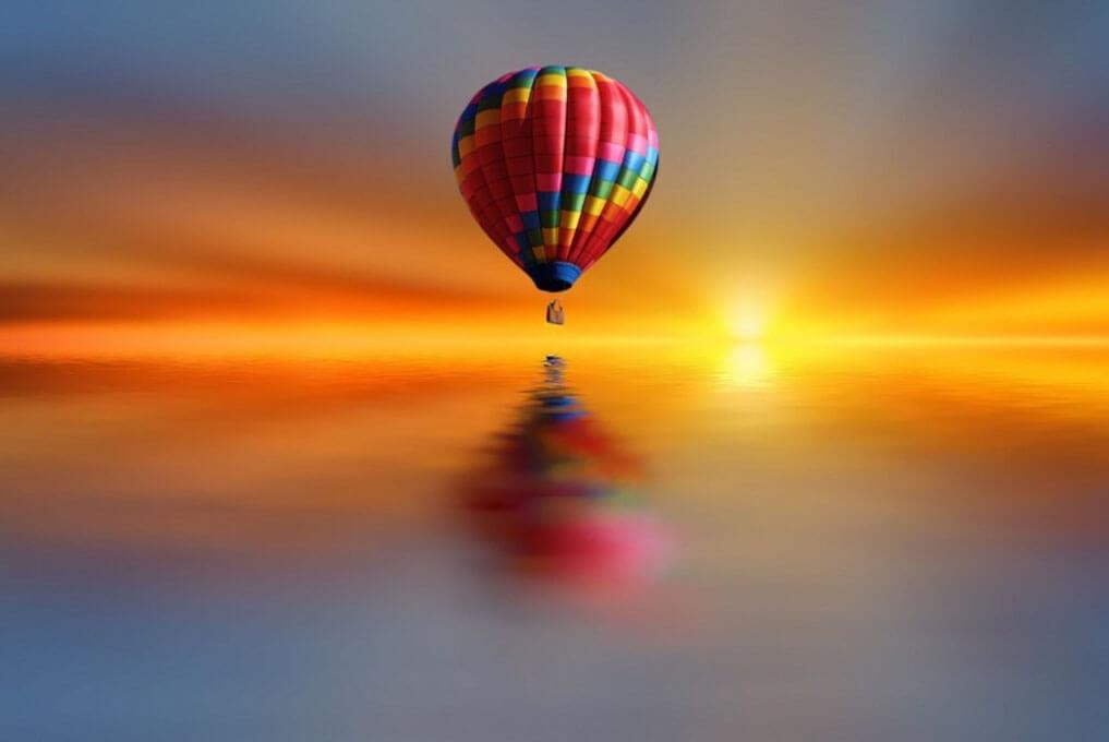 «Между синим и синим» - полет на закате на воздушном шаре над районом Сан-Диего Дель-Мар (превью)