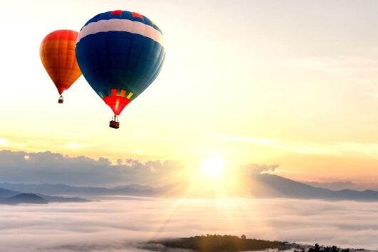 «На рассвете дня» - полет на воздушном шаре над долиной Темекула + дегустация вина на винодельне (превью)